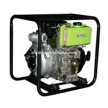 Bomba Diesel refrigerada a ar de 4 tempos, bomba de irrigação agrícola de alta pressão de 2 polegadas, modelo portátil