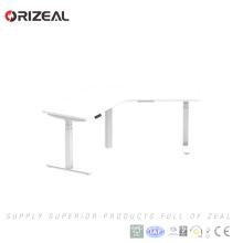 Ergonomic Electric Height Adjustable Corner Standing Desk Workstation Frame