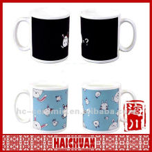 Ceramic colour change mug heat sensitive mug, magical cup