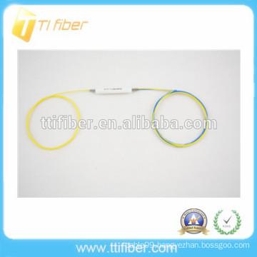 High quality 1x2 FBT single window optical fiber splitter
