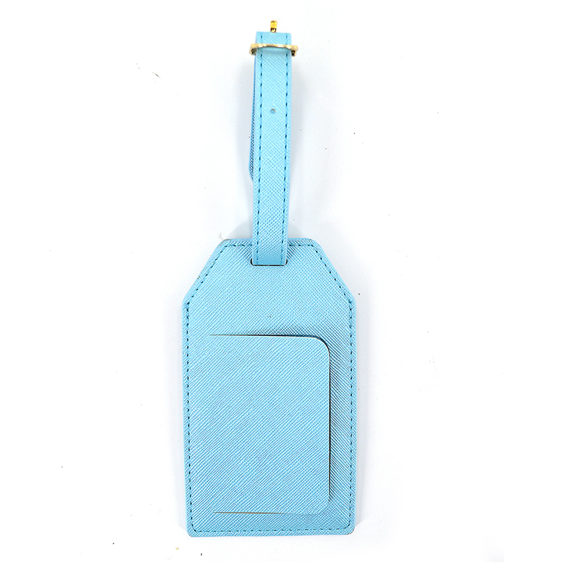Top Full Grain Travel Saffiano Leather Luggage Tag