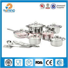 16 Pcs stainless steel prestige cookware set