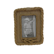 Wooden Hemp Rope Picture Frame for Gift