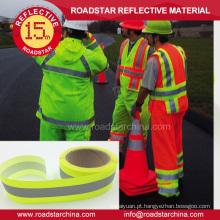 Fita de tecido reflexivo retrô segurança EN471