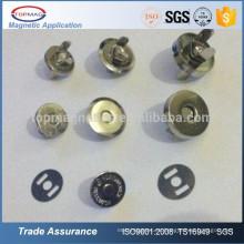 Botones magnéticos del botón del broche de presión del imán magnético al por mayor del metal para las bolsas de cuero
