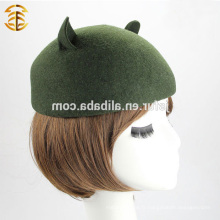 Chapeau Fedora de qualité supérieure 100% chapeau de feutre Fedora en feutre de laine australienne avec oreille de chat mignonne