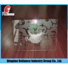 4mm / 5mm / 6mm Acid Designed Glass / Ácido Etched Glass / Acid Processed Glass