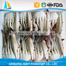 Délicieux, de bonne qualité, frais, congelé, entier, moitié, coup, bleu, natation, crabe