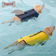 Hai und Ente Leben Hund Jacke Design Pet Schwimmen Kleidung Pet Saver Weste