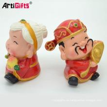 Personalice la artesanía plástica de la resina del estilo chino de la historieta 3d