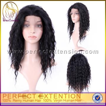 Para Africano-americanos Jerry Curl cabelo virgem cambojano rendas frente perucas
