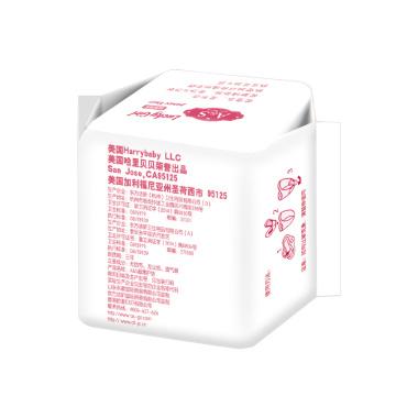 Almofadas sanitárias respiráveis de mini algodão com asa