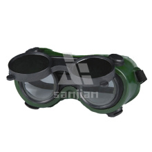 Protección para los ojos Clear Inner Lens Coating Lente exterior Soft PVC Frame Gafas de seguridad de soldadura