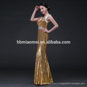 блестки сексуальная русалка рукавов вечерние платья женщин