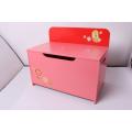 Armazenamento De Madeira De Brinquedo De Armazenamento De Brinquedos Box Bench Armazenamento De Caixa De Armazenamento Crianças Decoração De Móveis Móveis-Red Chick