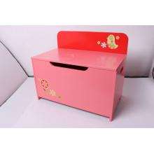 Stockage Stockage de jouets en bois Boîte à jouets Boîte de rangement en banc Boîtier Meubles pour enfants Décoration Meubles-Chien rouge