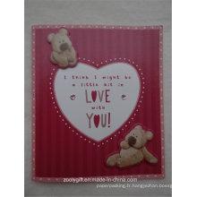 Die-Cut Bear Diamant décoré en relief Art Paper Holiday Greeting Gift Card