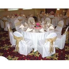 Couverture de chaise de banquet standard, CT049 polyester matière, durable et facile lavable