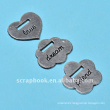 stamping painting plated zinc alloy ribbon slides