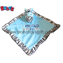 "15"" Hot Sale Stuffed Zebra Head Style Baby Blanket Plush Comforter Bib"