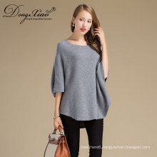 Oem Factory Price New Winter O-Neck Loose Women'S Knit Ladiessweaters , Pure Wool Sweater