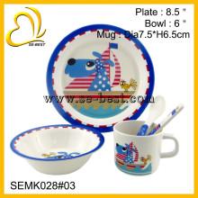 food safe melamine dinnerware set for kids