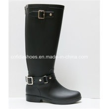 OEM Hottest Anti-Water Flat Women Rubber Rain Boots