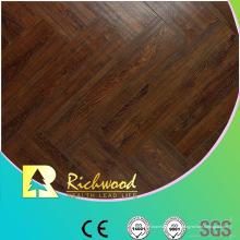 12mm HDF en relieve Hickory V-Grooved encerado con acabado Lamiante Floor