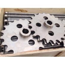 Piñón de cadena de rodillos de acero industrial de 24 dientes