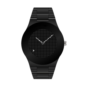 Men's Black Cool Stainless Steel Watch