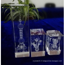Cube en cristal personnalisé de différentes tailles pour la décoration