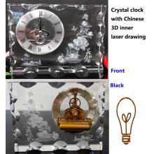 3D внутреннее лазер китайский цветок Кристалл Айсберг часы подарки