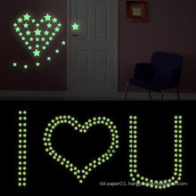 room decor glow in the dark stars printing wall kids stickers