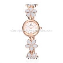 Lady Trendy Fashion Beautiful Quartz Flower Wrist Watch SOXY015