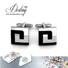 Destiny jewellery Crystal From Swarovski Mr Oil Paint 4 Cufflinks