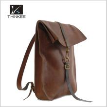 Mochila de diseño personalizado mochila de cuero de moda