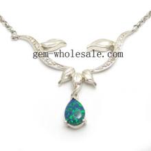 Опал ожерелье серебро ювелирные изделия (YN00007)