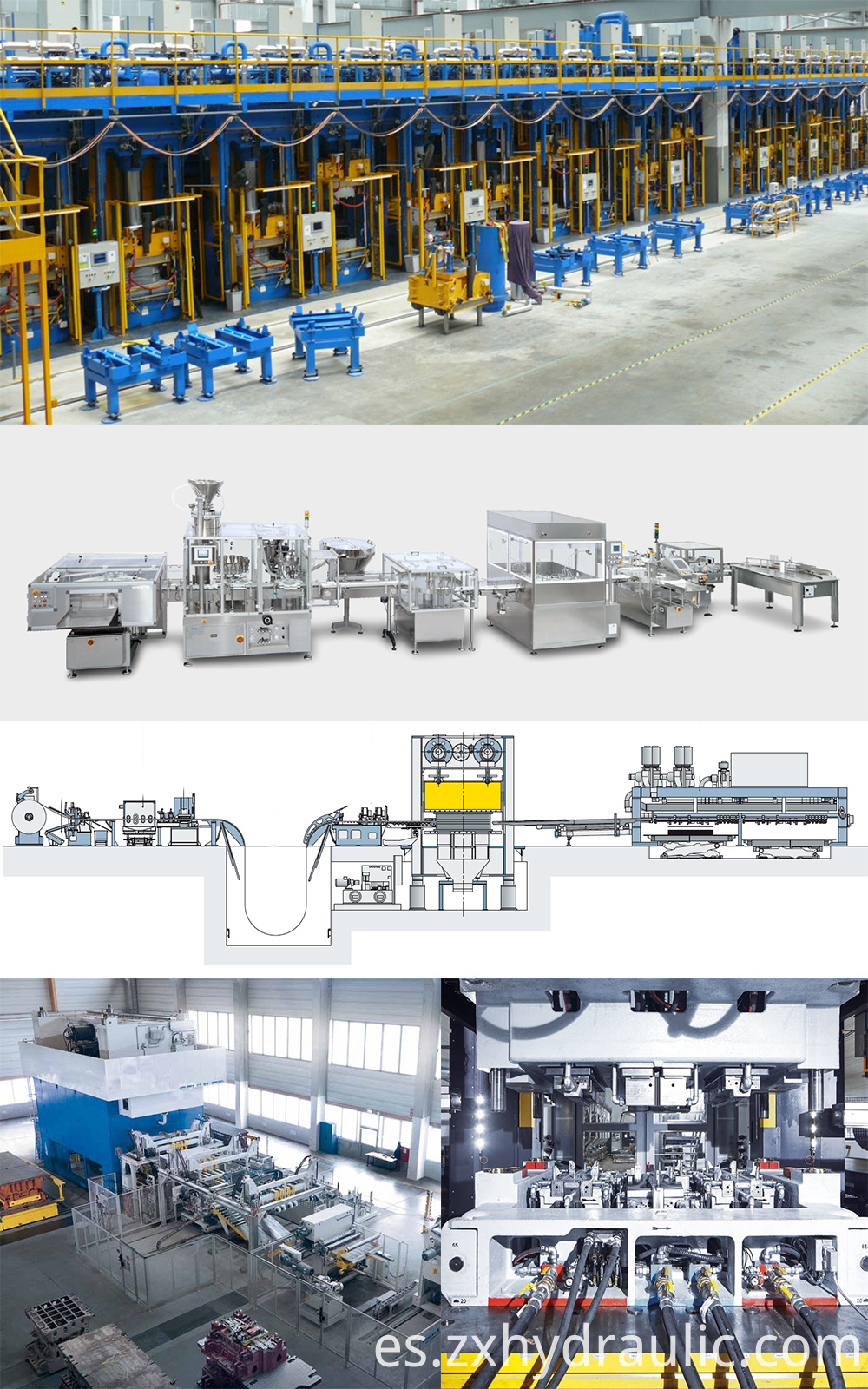 hydraulic press machine production line