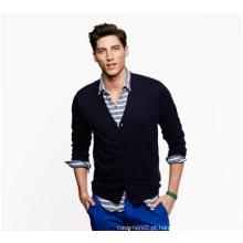 Europa, outono e inverno, novo V-neck 5 fivelas de manga comprida de cashmere cardigan man sweater