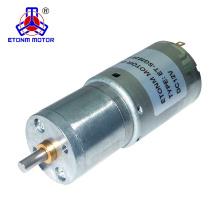 Motor de corriente continua de 25 mm velocidad nominal de 12V 80rpm