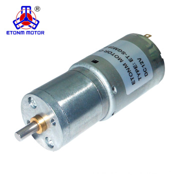 25mm dc motor 12V rated speed 80rpm