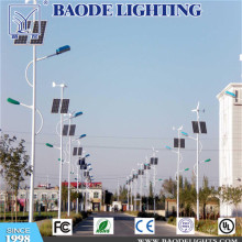 8m Solar y viento 80W LED calle luz
