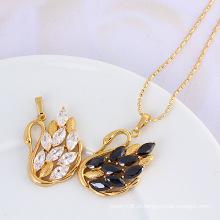 Xuping 18k jóias de moda de ouro cúbicos zircônia pingente jóias
