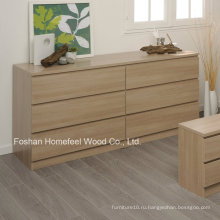 Просто дизайн Деревянная спальня 6 Ящик для хранения ящика (HC27)