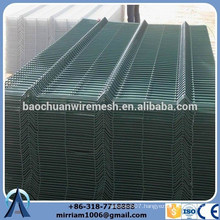 4mm/ 5mm Wire mesh PVC coated RAL 6005 with high quality