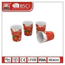 Popular em moldes plásticos de rotulagem do copo com completa impressão 8OZ/0,226 L