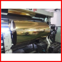 Metallized Polyester Film with Lacquer Coating Gold