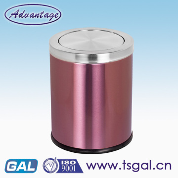Stainless steel hotel room garbage can