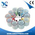 11oz Rim Color Sublimation Ceramic Mug for printing wholesale