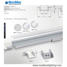 Eingelassenes Aluminiumprofil U Kanalgehäuse für 10-11mm Streifenlicht